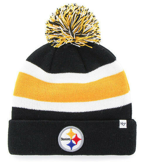 Pittsburgh Steelers NFL Football Breakaway On-Field Pom Winter Hat - Dynasty Sports & Framing