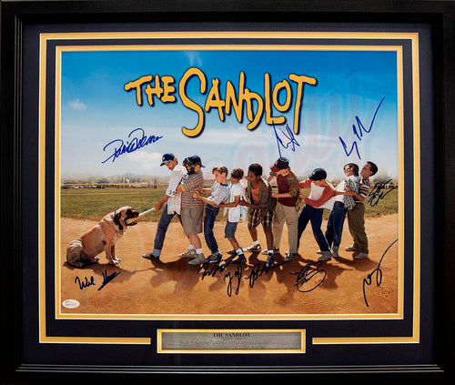 Entertainment The Sandlot v. The Beast Autographed Framed and Matted Photo