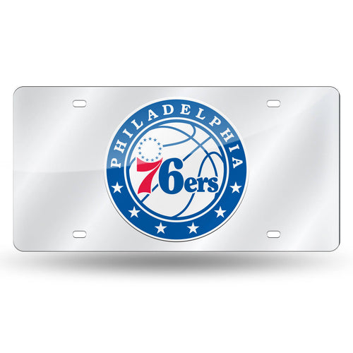 Philadelphia 76ers NBA Laser Cut License Plate (White Ball Logo)