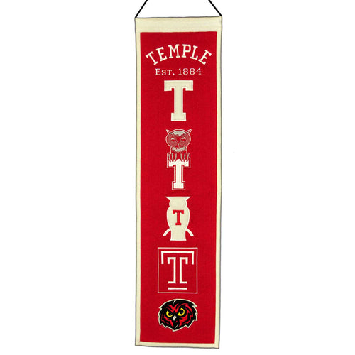 Temple University Owls NCAA Logo Heritage Banner - Dynasty Sports & Framing