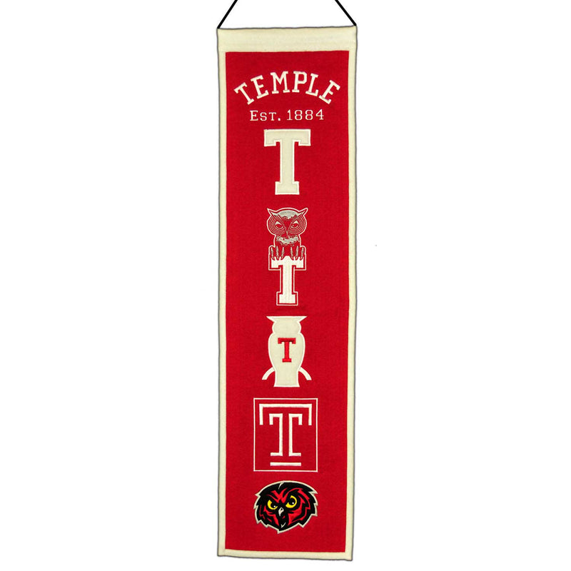 Temple University Owls NCAA Logo Heritage Banner