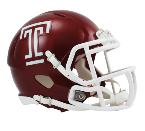 Temple University Owls Riddell Speed NCAA Mini-Helmet - Dynasty Sports & Framing