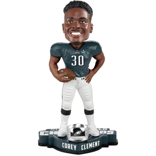 Philadelphia Eagles Super Bowl LII Champions Corey Clement NFL Bobblehead - Dynasty Sports & Framing