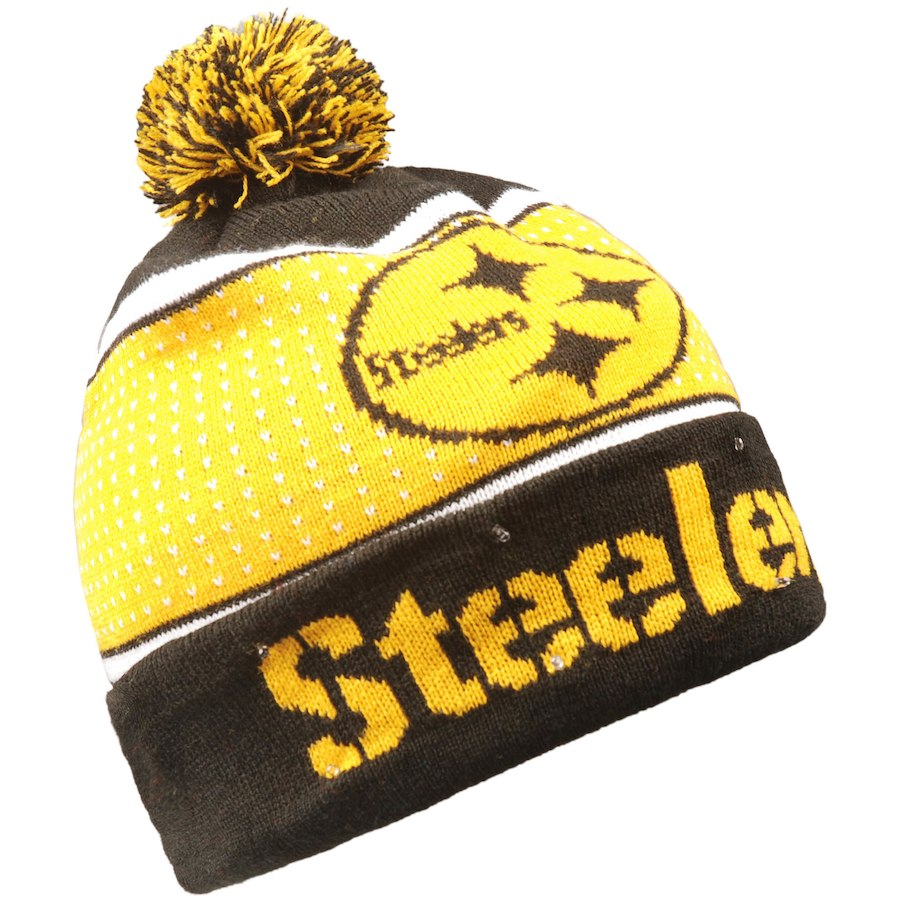 Pittsburgh Steelers Light Up Knit Beanie Hat – Dynasty Sports   Framing 308d2dc61bb