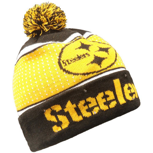 21b8d83bb8e Pittsburgh Steelers Light Up Knit Beanie Hat