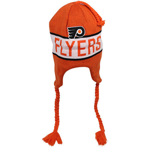 Philadelphia Flyers Knit Tassle Winter Hat - Dynasty Sports & Framing