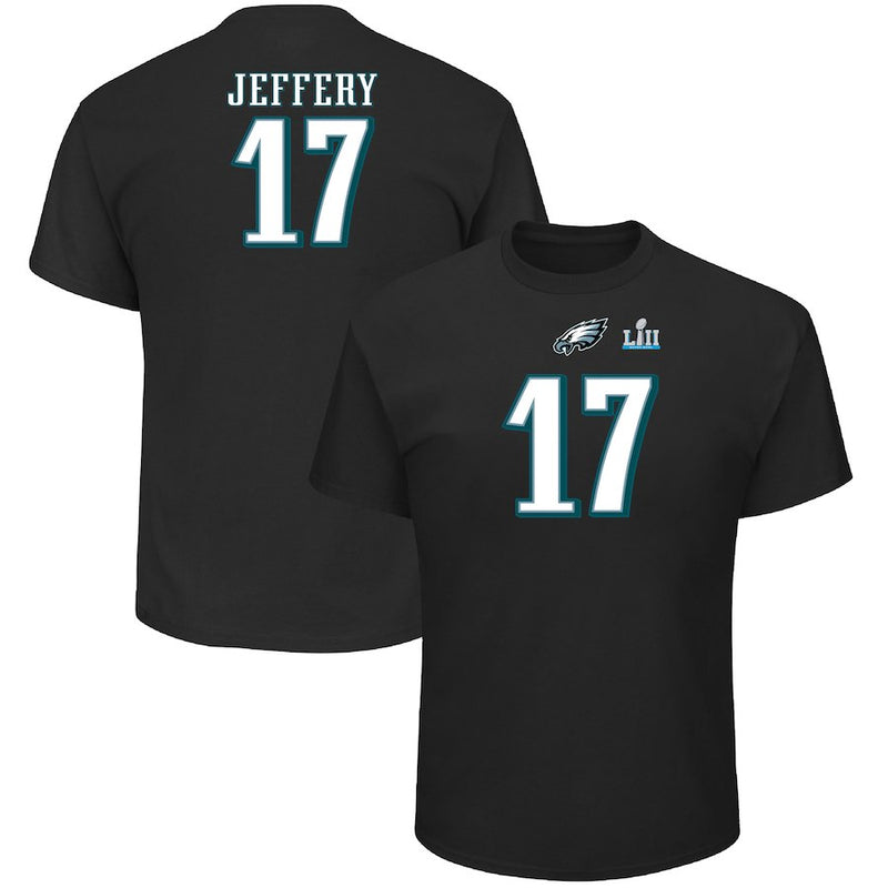 Alshon Jeffery Philadelphia Eagles Super Bowl LII Patch Name & Number T-Shirt