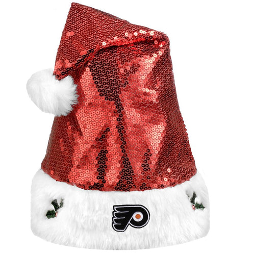 Philadelphia Flyers Sequined Santa Christmas Hat - Dynasty Sports & Framing