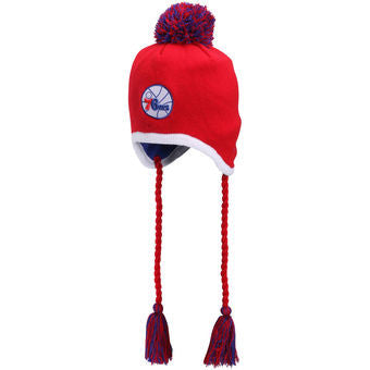 Philadelphia 76ers NBA Basketbell New Era Knit Tassle Winter Hat - Dynasty Sports & Framing