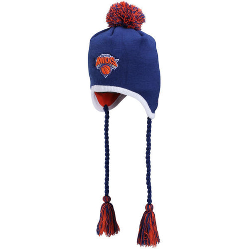 New York Knicks NBA Basketbell New Era Knit Tassle Winter Hat - Dynasty Sports & Framing