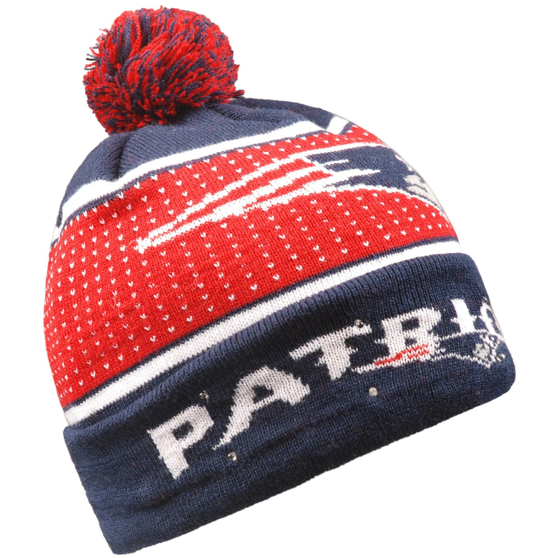 869a8773e5b New England Patriots Light Up Knit Beanie Hat – Dynasty Sports   Framing
