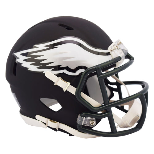 Philadelphia Eagles Black Matte Alternate Speed Mini Football Helmet