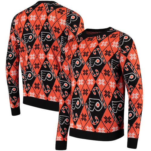 Philadelphia Flyers Men's Candy Cane Ugly Sweater