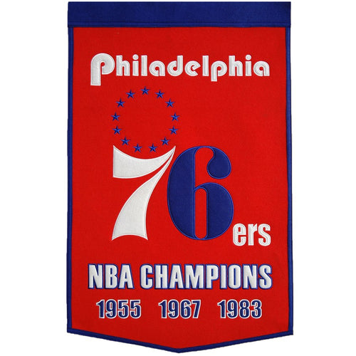 Philadelphia 76ers NBA Dynasty Banner Banner - Dynasty Sports & Framing
