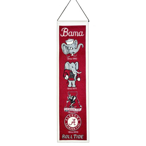 University of Alabama NCAA Logo Heritage Banner - Dynasty Sports & Framing