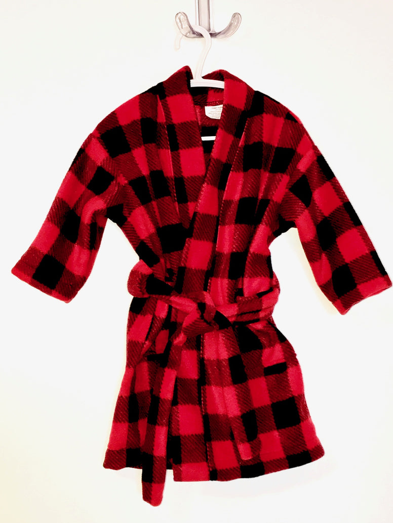 Red Buffalo Check Little Kids Bath Robe