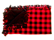 Red Buffalo Check Large Blanket