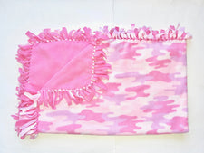 Pink Camo Large Blanket