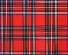 Red Tartan Ladies Wrap