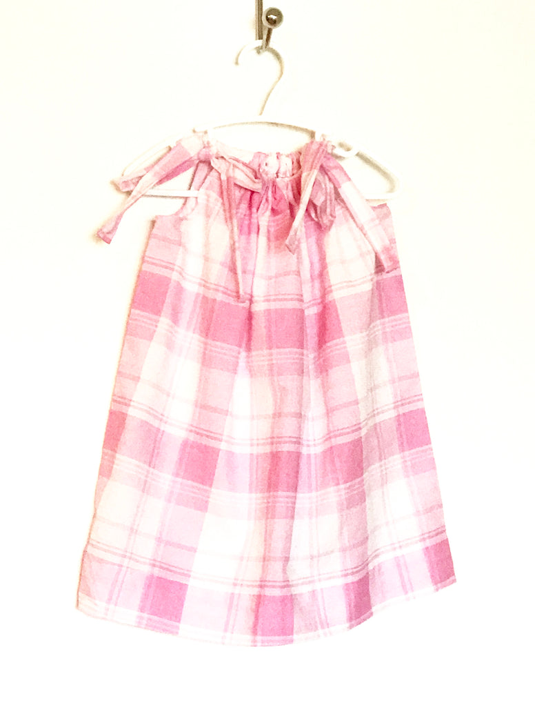 Pink Plaid Pillowcase Dress