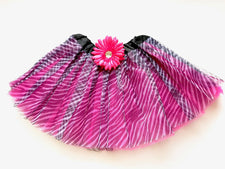 Hot Pink Zebra Gem Flower Tutu