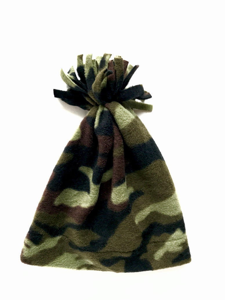 Green Camo Baby and Toddler Fringe Hat