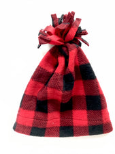 Red Buffalo Check Baby and Toddler Fringe Hat