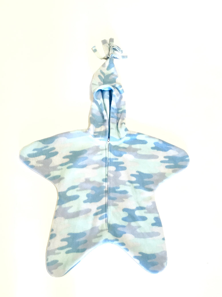 Blue Camo Baby Bunting