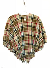 Tan London Plaid Big Kid Poncho