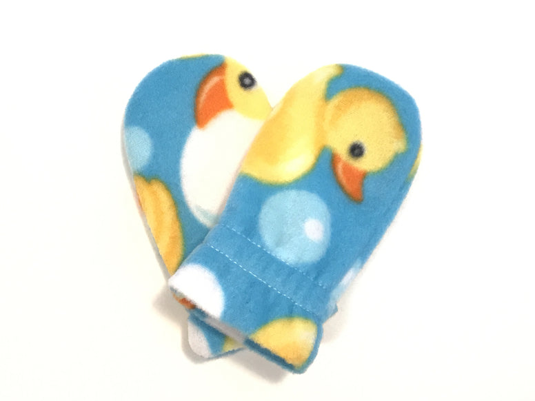 Rubber Duck Baby Mitts