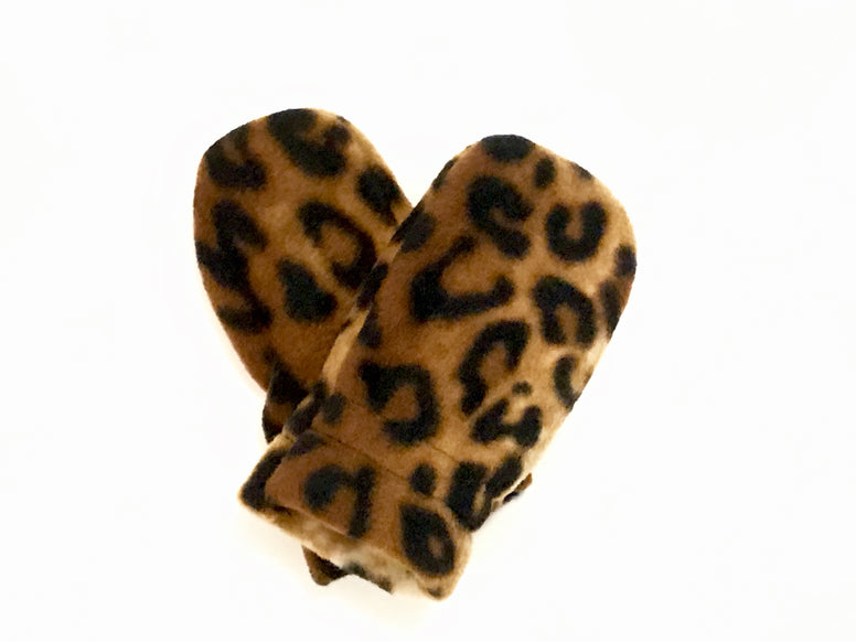Leopard Baby Mitts