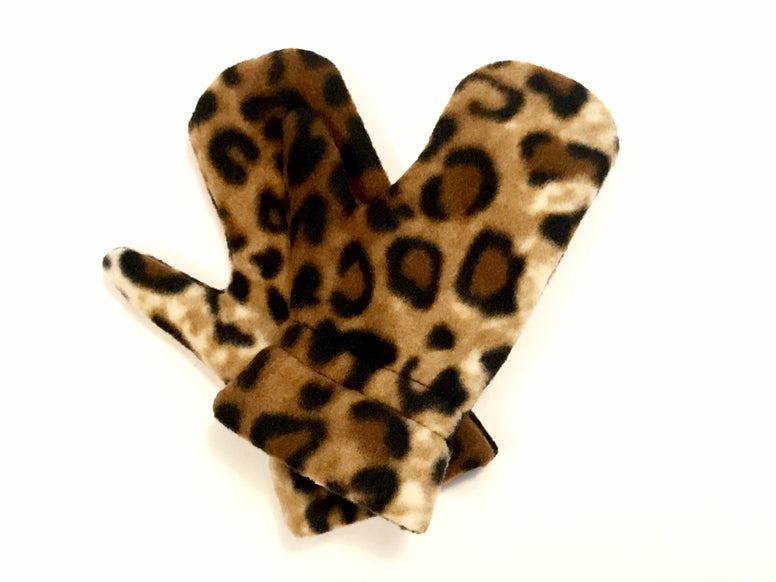 Leopard Toddler Mitts