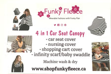 Aqua/Pink Dot 4 in 1 Car Seat Canopy