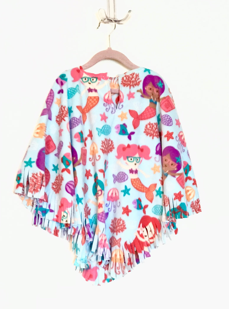 Mermaids Big Kid Poncho