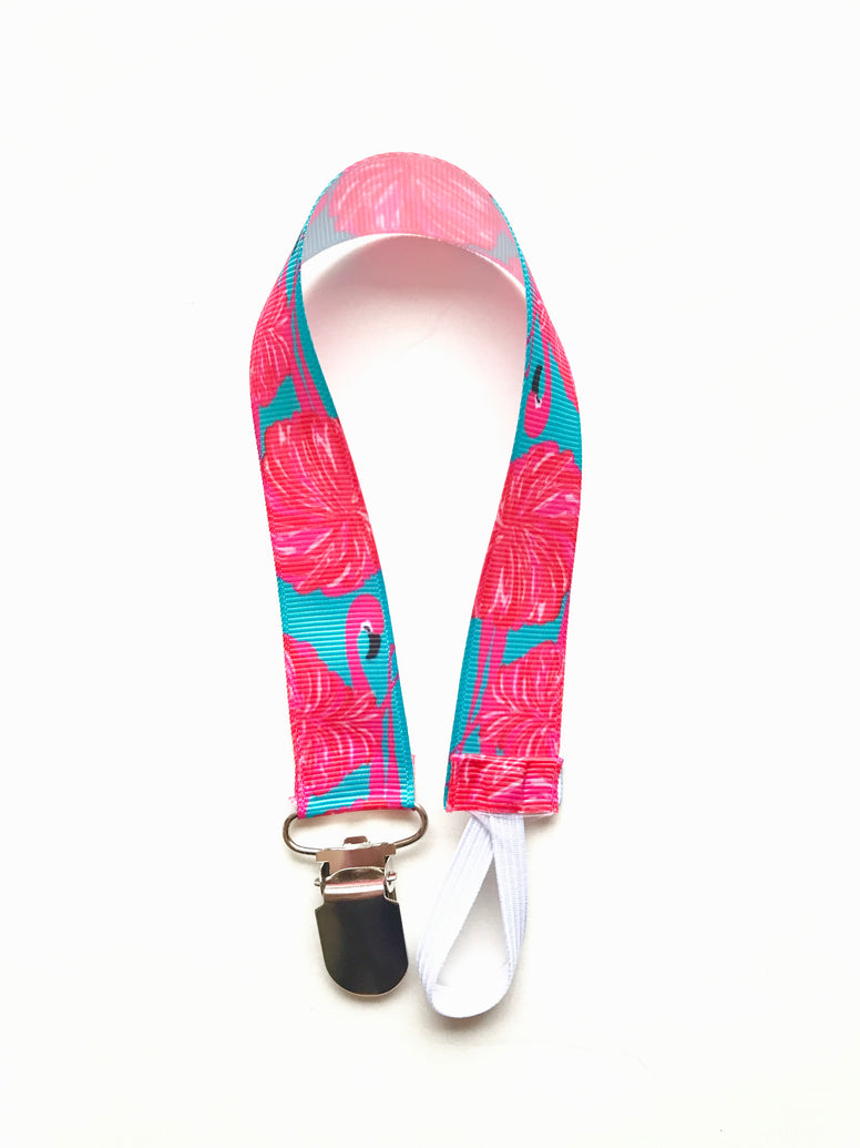 Flamingo Soother & Toy Leash