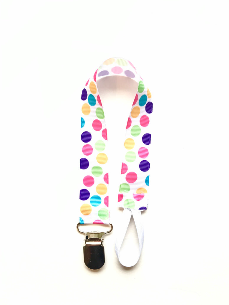 Polka Dot Soother & Toy Leash