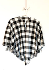 Black & White Buffalo Check Baby Poncho