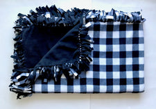 Black White Buffalo Check Medium Blanket