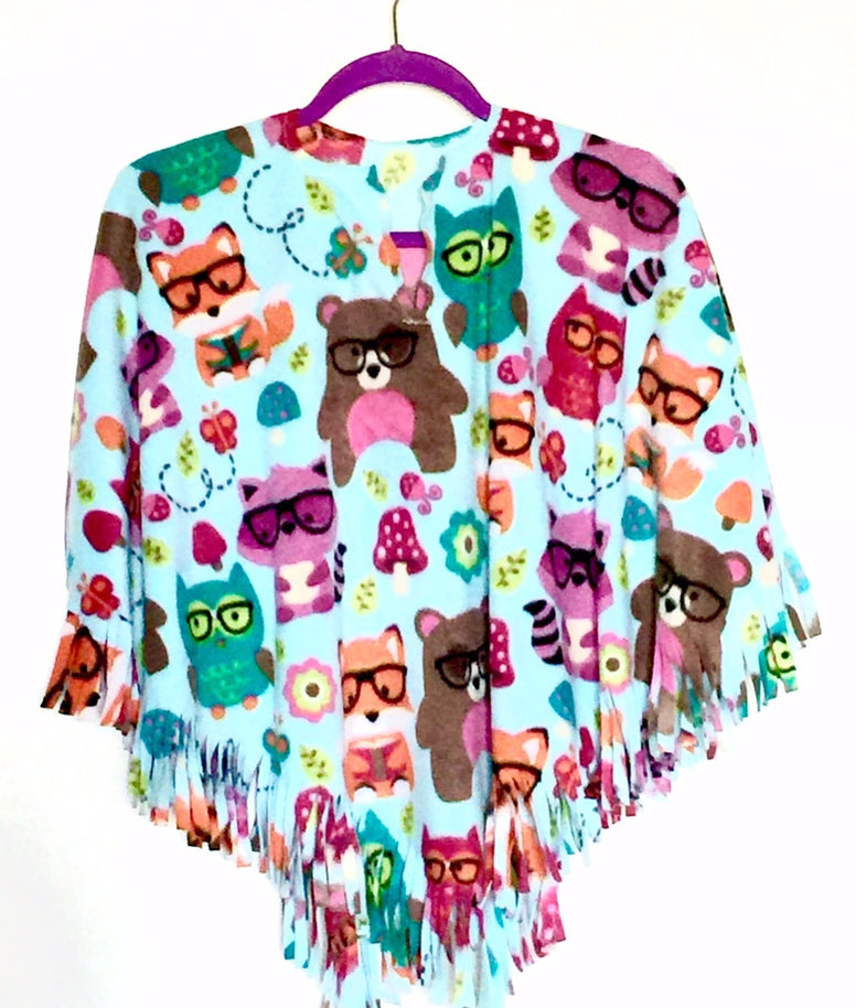 Forest Animals Toddler Poncho