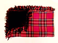 Red Tartan Plaid Small Blanket