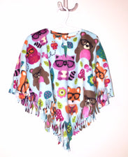 Forest Friends Little Kid Poncho