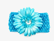 Turquoise Gem Flower Headband