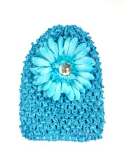 Turquoise Gem Flower Baby Hat