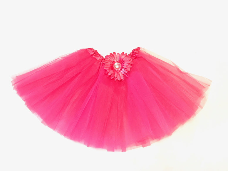 Hot Pink Gem Flower Tutu