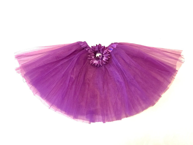 Dark Purple Gem Flower Tutu