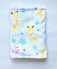 Soft Yellow Giraffe Stroller Blanket