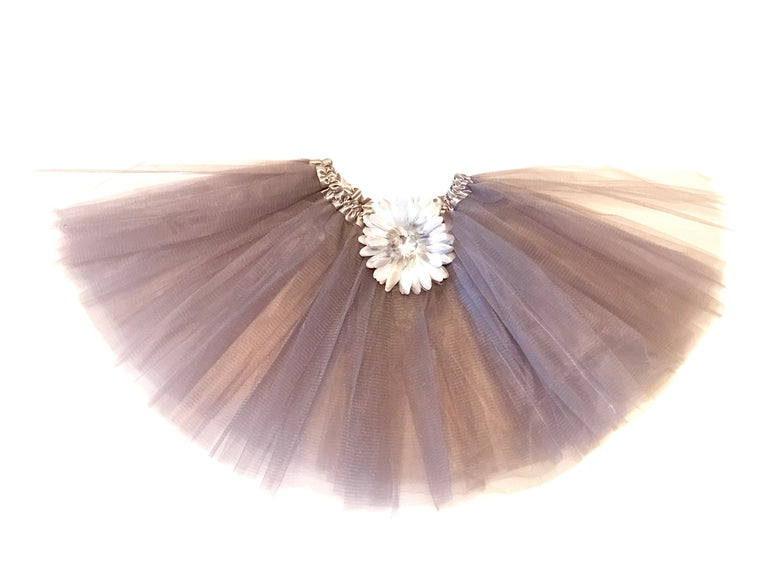 Gray Gem Flower Tutu