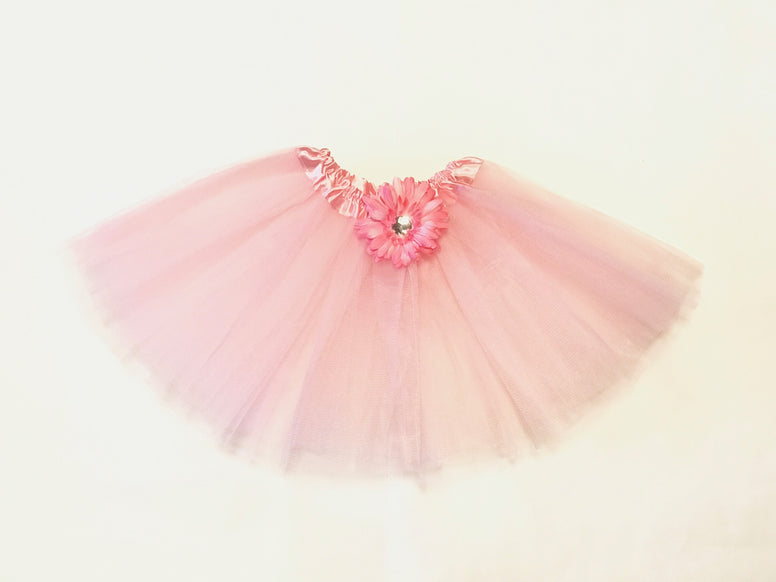 Soft Pink Gem Flower Tutu