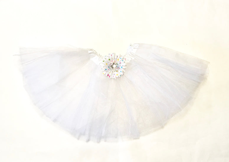 White Gem Flower Tutu