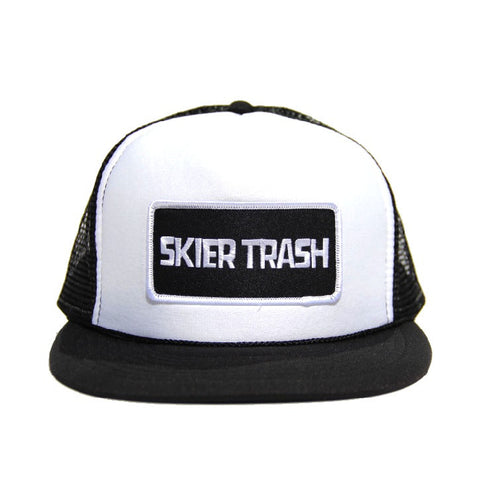 Classic Patch Trucker Hat - Black/White